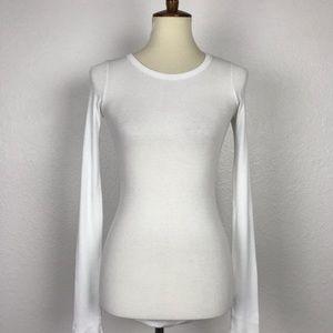 Parker Blue Ribbed Knit T Shirt T366